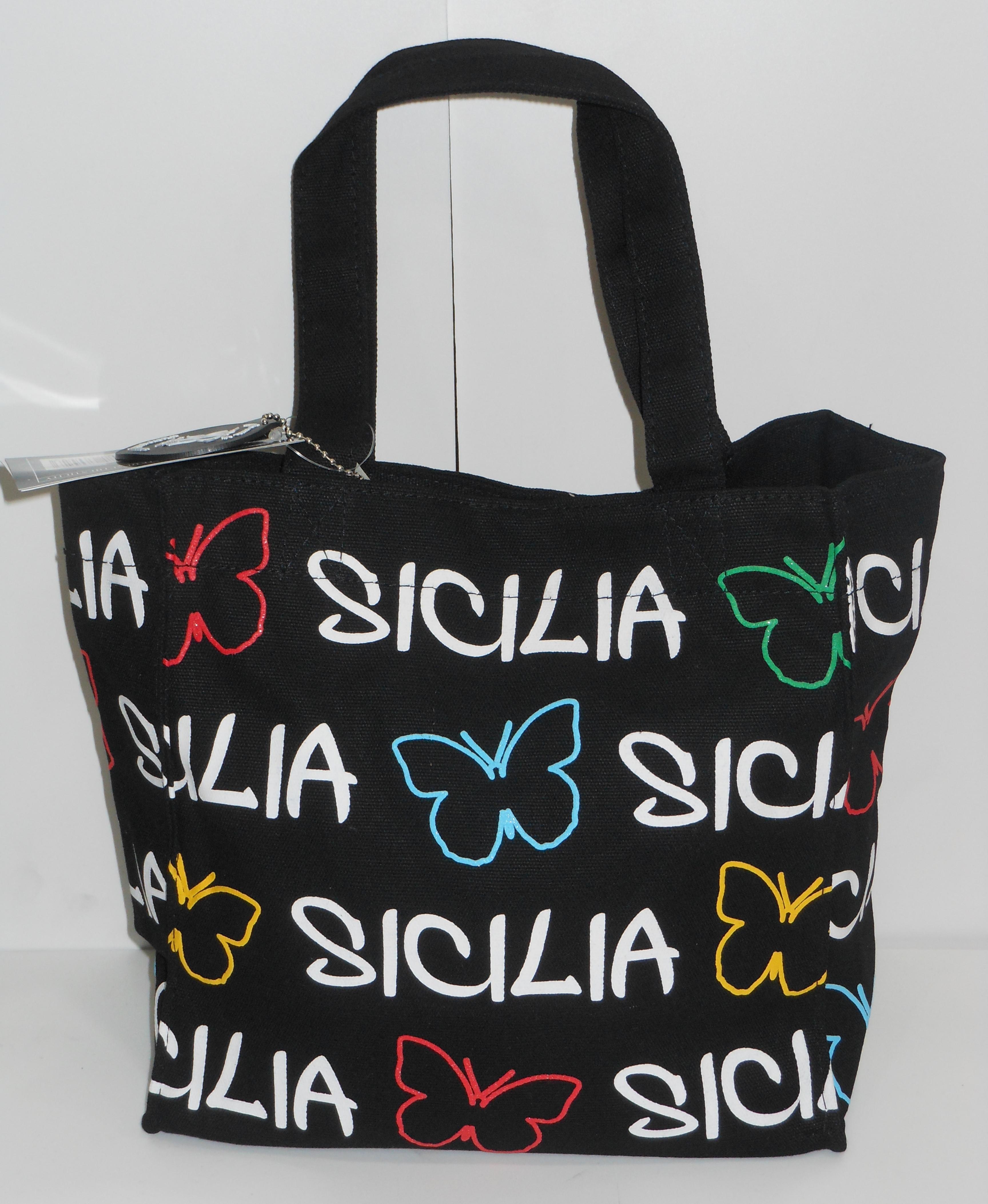 BORSA SICILIA C/FARFALLA PICCOLA