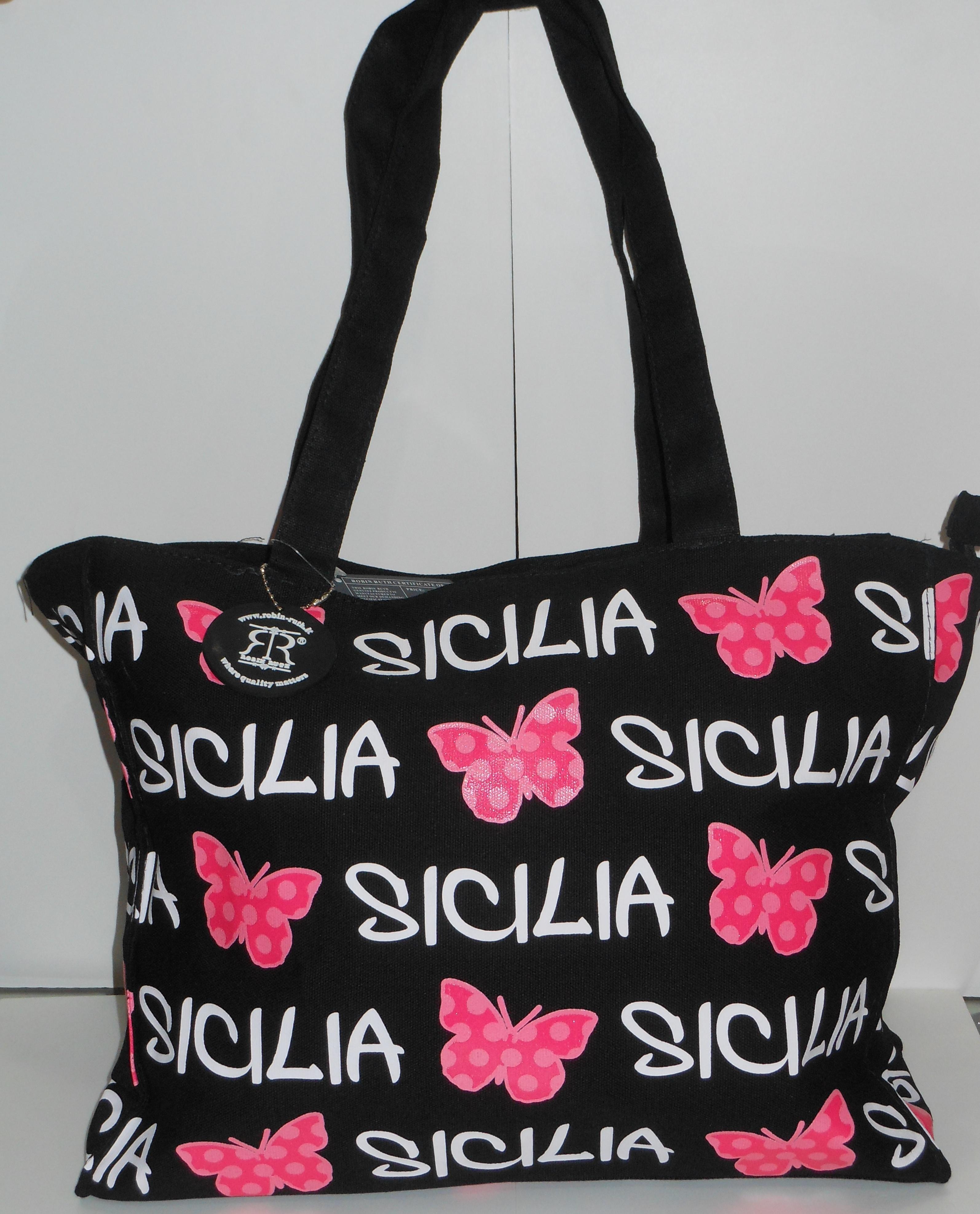 BORSA SICILIA C/FARFALLA GRANDE