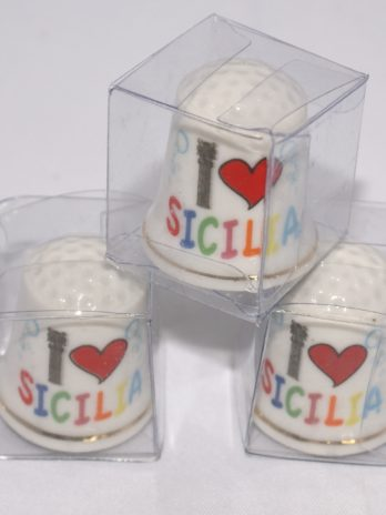 DITALE CERAMICA C/SCATOLA I LOVE SICILIA