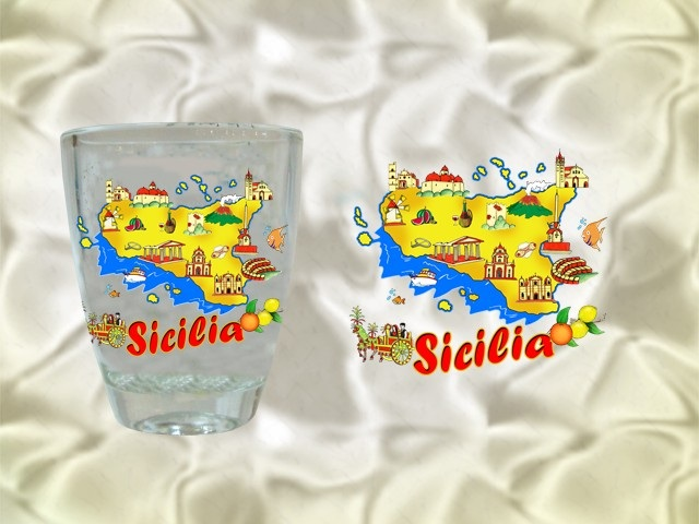 BICCHERE VETRO SV. CM 5,2 SICILIA