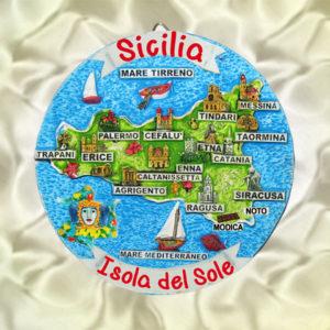 PIATTO CM.10 SICILIA ISOLA DEL SOLE