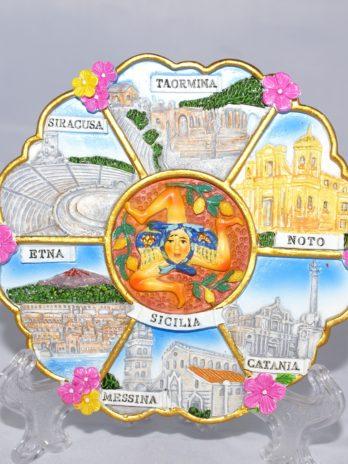 PIATTO FIORE CM.10 SICILIA 7 IMMAGINI