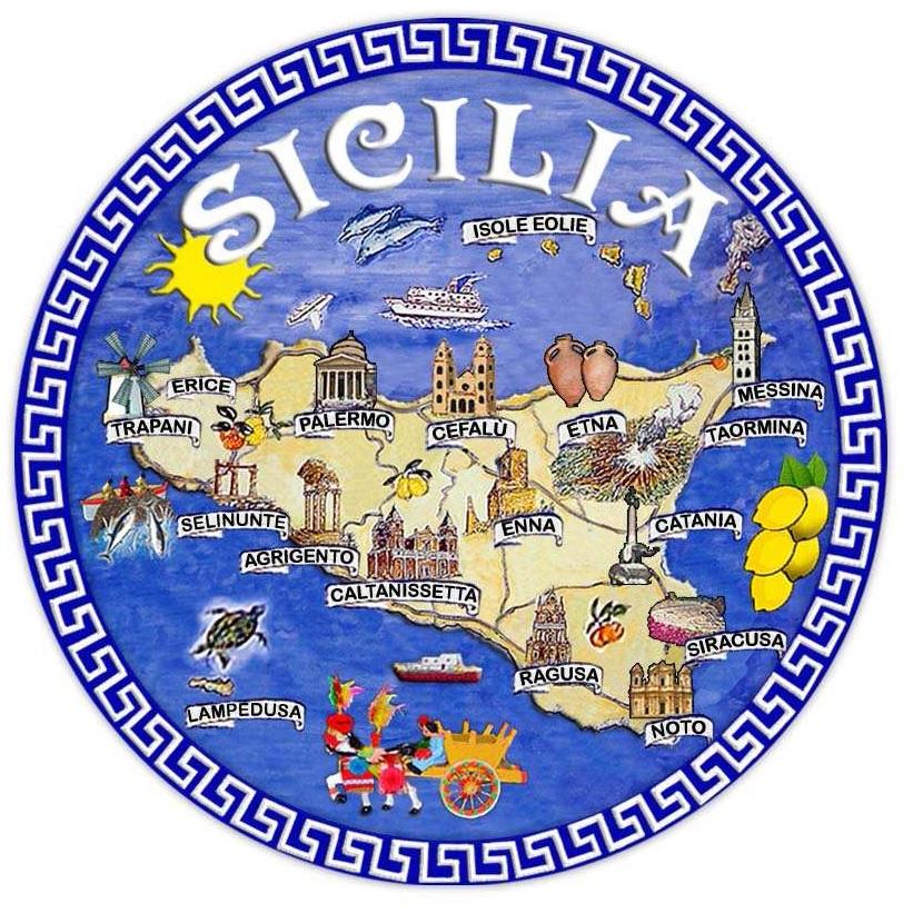 PIATTO CM10 GRECA SICILIA