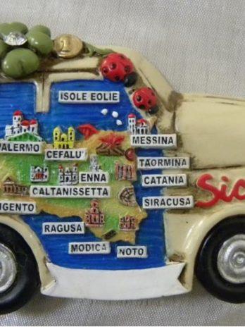 MAGN. AUTO CM. 7X4.7 CART. SICILIA